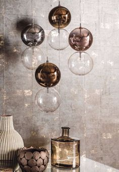 APOLLO Borosilicate glass pendant #lamp by Cattelan Italia