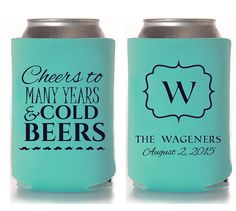 Custom Wedding Koozie  Cheers to Many Years and by CCKoozieDesigns