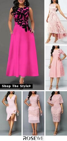 Hot Sale & Sleeveless Leaf Print Round Neck High Waist Dress. $10 off over $80! Free shipping & 30 days easy return at Rosewe.com.#dress#pink#homecoming#highwaist#sleeveless#modest#party#backtoshcool Pink Fashion, Fashion Dresses, Mother Daughter Fashion, Latest Fashion For Women, Womens Fashion, African Fashion Ankara, Pretty Shirts, Pink Dress, Beautiful Outfits