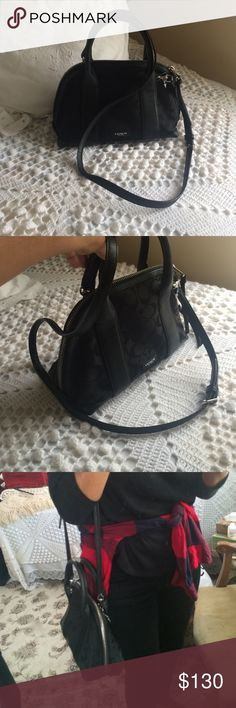 Black mini dome coach bag! 🔥🔥 Beautiful black dome bag! Authentic coach cross body! Will post more pics if needed. Coach Bags Crossbody Bags