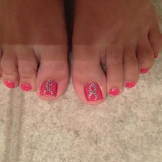 Oct 2012: Nail Art - Breast Cancer Awareness