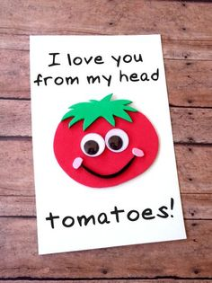 This DIY Father's Day Tomato Card is fun and easy to make with our free printable template to to let Dad know how much he is loved! perfect fathers day gift, first fathers day gifts from kids, fathers day surprise Kids Fathers Day Crafts, Fathers Day Art, Fathers Day Presents, Gifts For Kids, Fathers Day Ideas, Dad Gifts, Grandparent Gifts, Cool Gifts For Dad, Diy Birthday Presents For Dad