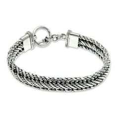 Heavy Men's Sterling Silver Chain Bracele