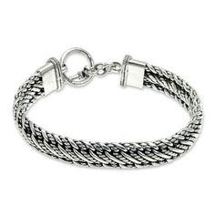 Heavy Men's Sterling Silver Chain Bracele