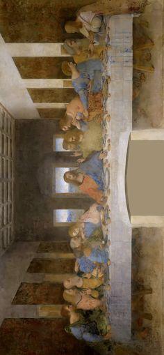 """The Last Supper"" by Leonardo Da Vinci. Last Supper Art, Da Vinci Last Supper, The Last Supper Painting, Leonardo Paintings, Famous Artists Paintings, Jesus Painting, A Level Art, Fox Art, Catholic Art"