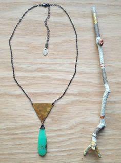 ∆∆∇∇ elementality | chrysoprase •SUEÑO• necklace by -hush-