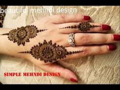 Quick and easy /simple best mehndi design tutorial//henna design for hands - Temp tattoos - Henna Designs Hand Mehndi Designs For Beginners, Best Mehndi Designs, Simple Mehndi Designs, Tattoo Designs, Mehndi Video, Mehndi Simple, Hand Embroidery Videos, Hand Mehndi, Beautiful Mehndi Design