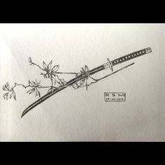 The 10 Best Drawing Ideas Today (with Pictures) - A sword to cut through y. Anime Tattoos, Body Art Tattoos, Sleeve Tattoos, Cool Drawings, Tattoo Drawings, Sword Drawings, Cool Small Tattoos, Cool Tattoos, Tatoos