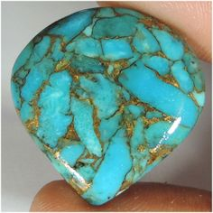 33.20Cts NATURAL COPPER SKY BLUE TURQUOISE HEART CABOCHON TOP QUALITY GEMSTONE