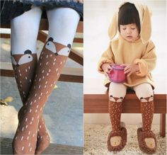 DHL EMS Free Shipping Wear Lovely Baby Girls Foxy Fox Cloud Rain 2015  Autumn Winter Children Leg Warmers  infant Baby Leggings-in Tights & Stockings from Mother & Kids on Aliexpress.com | Alibaba Group