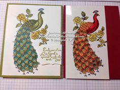 #Exotic #Colorful #RedPeacock #PeacockHandStampedCard #OmbreVideoTutorial #Blendabilites #CardMakingTutorial #GettinCraftyStampin #StampinUp #VideoTutorial #PaperCrafting