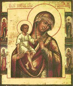 """Ícone da Mãe de Deus """"Rudnenskiy RATKOVSKAYA"""" A origem desta imagem é significativamente diferente de Rudenskaya ícone da Virgem Maria, não é conhecido. Em livros sobre a iconografia das duas imagens diferentes são muitas vezes confundidas. Rudnenskiy ícone de Nossa Senhora da aldeia chamada Rudnia Mogilev Diocese (hoje região de Smolensk), Ratkovskoy - da palavra exército."""