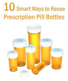 Here are 10 various ways those empty prescription pill bottles may be used for storage and organization.