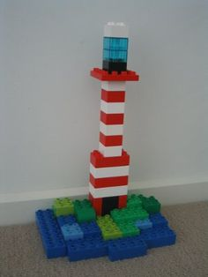 Duplo lighthouse idea, great one for the book!