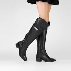 Bota Santa Lolla Over Knee Flat - Preto
