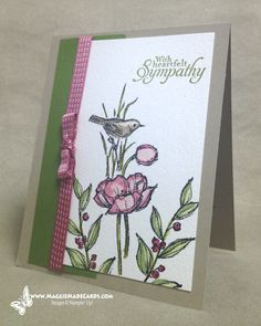 A Clean and Simple condolence card from the Simply Sketched hostess stamp set.