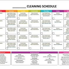 6 Best Images of Printable Master Cleaning List Template - Daily House Cleaning Schedule Template, House Cleaning Chore List Printables and House Cleaning Checklist Printable Monthly Cleaning Schedule, Cleaning Schedule Templates, Clean House Schedule, House Cleaning Checklist, Checklist Template, Weekly Schedule, Spring Cleaning Schedules, Chore Schedule, Weekly Cleaning Checklist