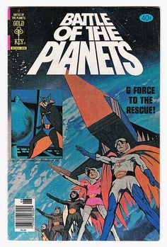 Rare Gold Key Comics Battle of the Planets 1 FN Key Issue June