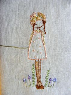 daisy girl embroidery pattern PDF