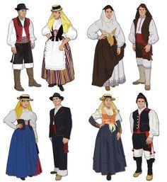 Tenerife, Regional, Fictional Characters, Clothes, Dresses, Fashion, Santa Cruz, Canary Birds, Ethnic Dress