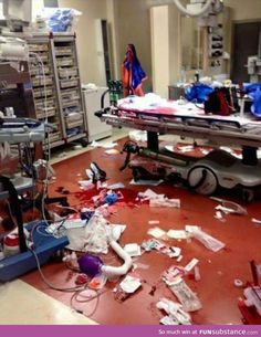 """""""I work in a hospital. This is the aftermath of a trauma. He lived"""""""