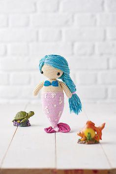 Mermaid amigurumi doll - Airali design - Sirena crocheted