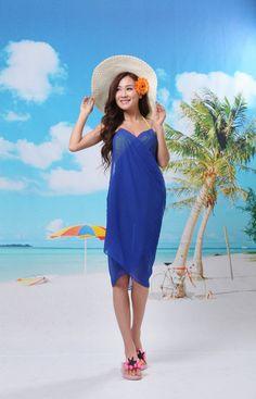 Beach Scarf Sarong Navy Blue