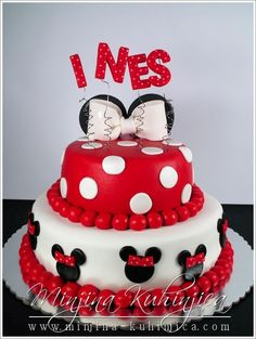 Minnie mouse cake- maybe just a red cake with white polka dots?