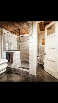 27 Luxury Walk in Shower Tile Ideas That Will Inspire You is part of Basement bathroom A luxury walkin shower creates a nice roomy feeling for your bathroom remodeling project The lack of obstructi - Bad Inspiration, Bathroom Inspiration, Toilet Room, Master Bath Remodel, Half Bathroom Remodel, Dream Bathrooms, Master Bathrooms, Master Bathroom Layout, Master Bathroom Shower