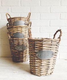 Farmhouse Style Basket Vintage Style Basket Vintage Inspired | Etsy