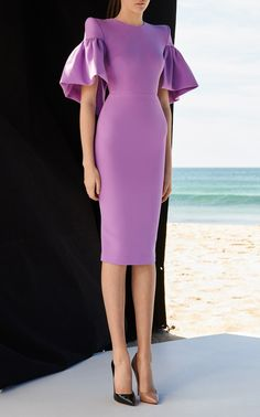 Get inspired and discover Alex Perry trunkshow! Shop the latest Alex Perry collection at Moda Operandi. Stylish Dresses, Nice Dresses, Short Dresses, Fashion Dresses, Dresses Dresses, Alex Perry, Dress With Sneakers, Purple Fashion, Crepe Dress