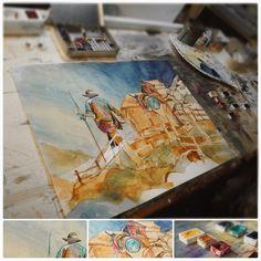 Die Geschichte der Säumer – Marlene Schaumberger Painting, Art, Early Modern Period, High Middle Ages, Storytelling, Sketches, Pictures, Art Background, Painting Art