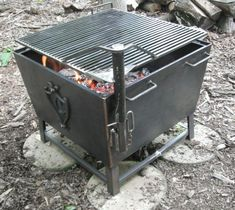 Outdoor, Custom Metal Fire Pit With Square Fire Pit Shaped And Black Fire Pit Ideas: Amusing Custom Metal Fire Pit Design For Keeping You Warm in The Cold Weather