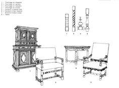 Style Louis XIII  Henri IV  1589-1610 (Bourbons)   Louis XIII  1610-1643