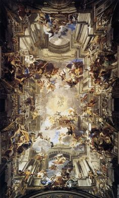 """""""Allegorie der Jesuiten"""", Andrea Pozzo, 1691, Sant'Ignazio, Rom."""