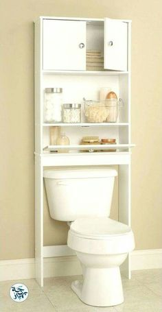 Repisa baño Small Bathroom Organization, Bathroom Shelves, Wood Bathroom, Bathroom Cabinets, White Bathroom, Bathroom Mirrors, Bathroom Ideas, Diy Organization, Bathroom Bath