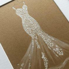 Dream Wedding Dresses, Prom Dresses, Formal Dresses, Weeding Dresses, Fashion Design Drawings, Fashion Sketches, Fashion Illustration Portfolio, Fashion Illustrations, Beautiful Gowns