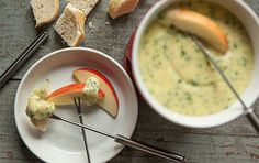 Get a double dose of bubbly by adding a little extra Champagne to the mix for a festive party-ready fondue. Enjoy the rest of the bottle with your guests!This fondue is also delicious drizzled over broiled new potatoes or used as a luxurious pasta sauce.