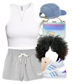 """""""Holographic for Summer ☄"""" by livelifefreelyy ❤ liked on Polyvore featuring adidas, H&M and Gucci"""