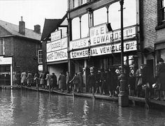 The River Severn floods 1947.  Shrewsbury, Shropshire