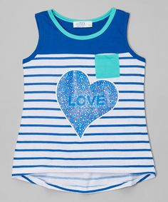 A lightweight cotton blend ensures adventure-ready comfort for little sweethearts. Tank Girl, Tank Man, Katies Fashion, Girly Girl, Girl Fashion, Mens Tops, Cotton, Girl Style, Heart