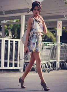 Lovely dress, nice heels.
