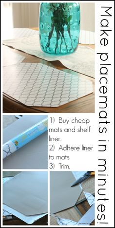 Can't find placemats you love?  Make your own in minutes with this trick!