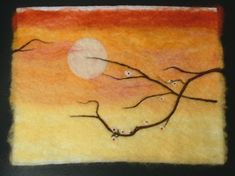 Needle felted wall art Wool Painting | Flickr - Photo Sharing!