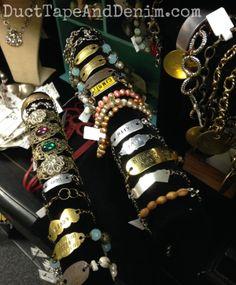 Bracelets on my shelf at Paris Flea Market   DuctTapeAndDenim.com