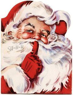 Santa says, Shhhh..... vintage