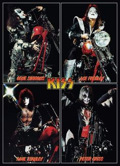 "KISS Army KISS Band KISS ""Destroyer Era"" Motorcycle Collage # 2 Stand-Up Display - Gift Idea Kiss Collectibles Kiss Memorabilia Kiss Poster"