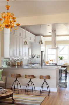 Piso e armários da cozinha