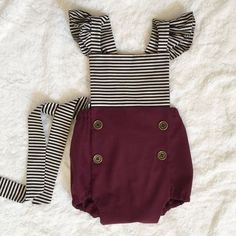 Adorable. Etsy listing at https://www.etsy.com/listing/230604233/flutter-sleeve-baby-romper-criss-cross