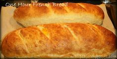 No excuse not to make homemade bread.  In just one hour you can have hot fresh bread on the table.